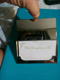 Silver Business Card Holder Engravable Gift Decatur, 35603