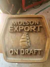 Wooden molson sign for mancave  Barrie, L4N 8N9
