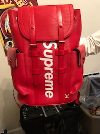 red and black Supreme backpack Upper Marlboro, 20772