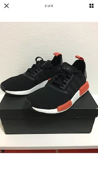 Adidas NMD R1 Men's Boost Running Shoes Sneakers Black New Size 7.5