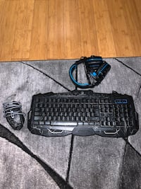 Gaming mouse, keyboard and headset