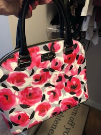 red and white floral tote bag Edmonton, T6M