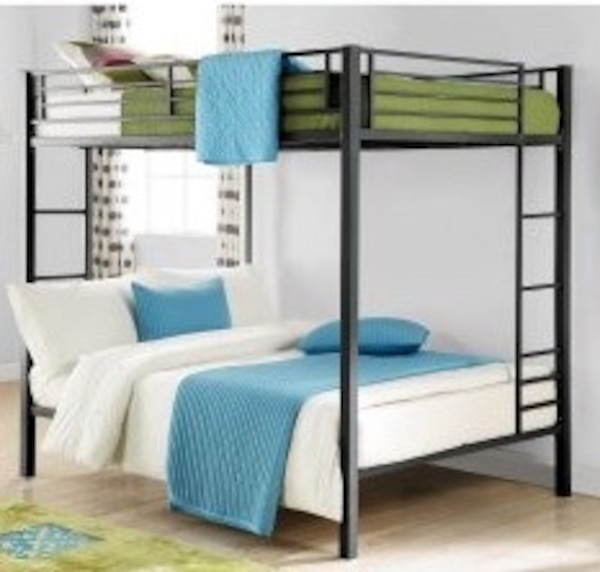 Used Dhp Zurich Full Over Full Bunk Bed With Bunkie Boards And New