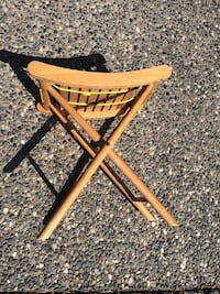 Camping chair folding wood vintage Surrey