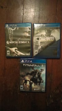 three assorted PS4 games Fresno
