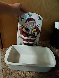 Ceramic Santa baking pan Youngstown, 44515