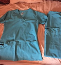 Blue jockey scrubs XS