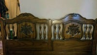 brown wooden headboard and footboard Cambridge, N1R 4M9
