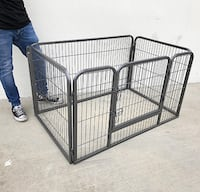 "New $70 Heavy Duty 49""x32""x28"" Pet Playpen Dog Crate Kennel Exercise Cage Fence, 4-Panels South El Monte"