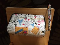 white, red, and blue floral leather wristlet Seattle, 98118