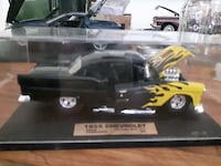 1955 black and yellow Chevrolet muscle car scale model Georgina, L0E 1L0