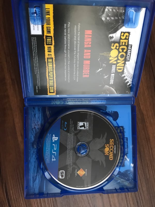 inFAMOUS: Second Son Gaming CD for PlayStation 4 (PS4): Buy Online ... | 800x600