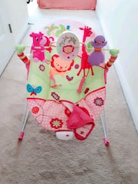 baby's pink and green Fisher-Price bouncer Toronto, M1B 0B1