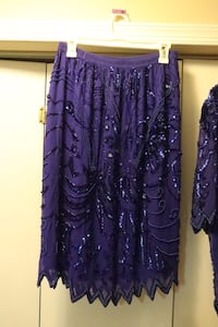 Women;s Blue Sequin Blouse and Skirt Springfield, 22152