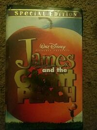 James And The Giant Peach VHS Tape Easton, 18042