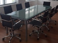 Silver metal framed glass top table. Please read info before asking questions   Miami, 33138