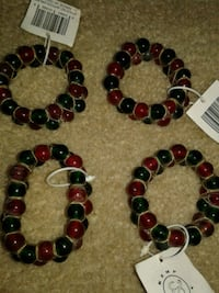 two black and red beaded bracelets 778 mi