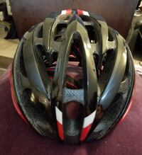 Giro Atmos bike helmet, black with red and white. Vancouver