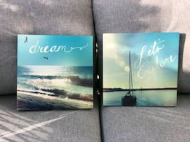 2 Canvas art decor