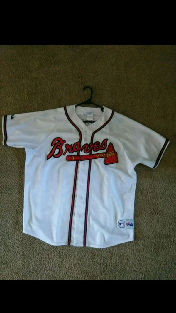 timeless design 7d130 7c999 Chipper Jones Authentic stitched jersey