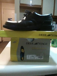 black Deer Stags leather lace-up shoe with box