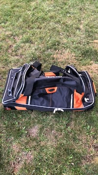 New black and orange huge travel or hockey bag