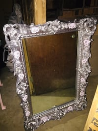 Large silver with pink rose mirror Owings Mills, 21117