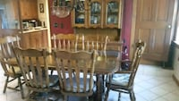 Wooden dining table and China cabinet 170 mi