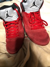Red Suede 5s Sz 13 Pomfret, 20675