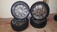 """18"""" rims and tires very good conditions Carpentersville, 60110"""