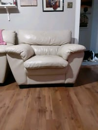 Leather sofa set. 1 chair and 2 sofa.