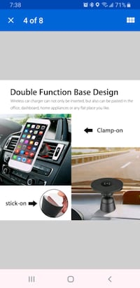 Wireless Fast charging car stand.