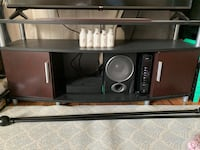 Black and Brown TV Stand