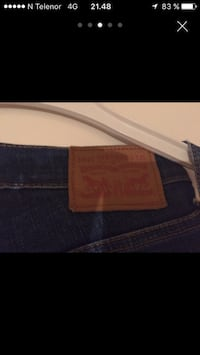 blå Levi Strauss og Co denim bottoms skjermbilde