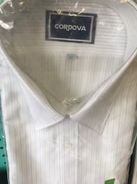 White and black striped cordova button-up collared shirt pack 索诺托萨萨, 33592
