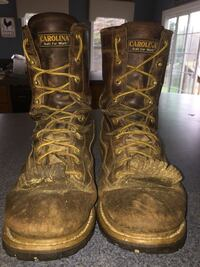 Pair of brown leather combat boots Hagerstown, 21740