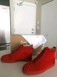 Christian louboutin Louis Flat Red Suede Size 10.5 Burnaby, V5C