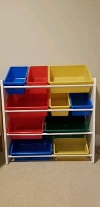 Shelf w/ 10 buckets Surrey, V3X 1B8