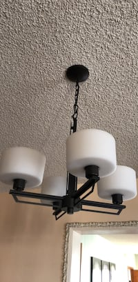 two white and black table lamps Los Angeles, 90027