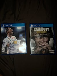 PS4 games (FIFA 18 & COD WWI) Centreville, 20121