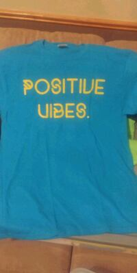 Positive Vibes turquoise and yellow Cedar Rapids, 52402