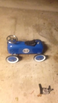 blue and black ride-on toy car