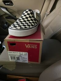 white and black Adidas low top sneakers in box Prospect, 06712