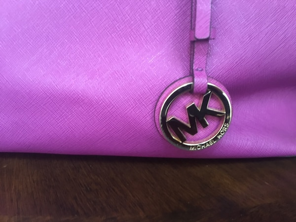 de1f334cb44d Used Purple michael kors leather tote bag for sale in New York - letgo