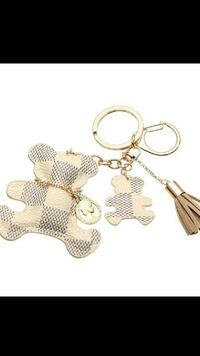 bear white leather keychain Dearborn, 48126