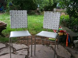 4 Awesome woven leather Bistro Chairs