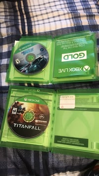 XBOX ONE Games (need for speed and titanfall ) Bakersfield, 93309