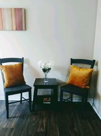 Two Black Ladder back chairs and Table Las Vegas, 89154