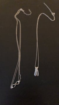 Silver charmed necklaces Langley Twp, V4W