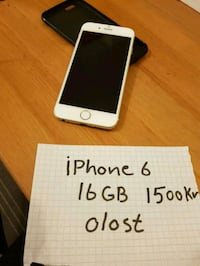 silver iPhone 6 med box Farsta, 123 33